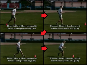 linear run and stick softball practice drill