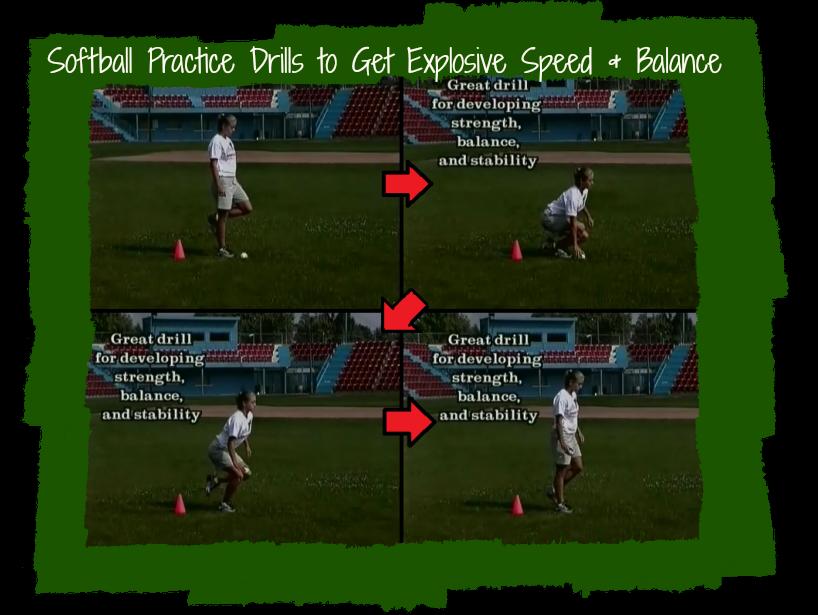 softball practice drill for balance