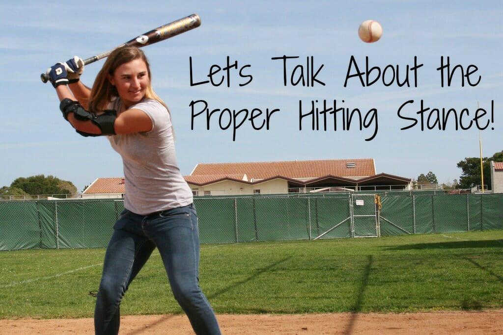 girls softball hitting stance