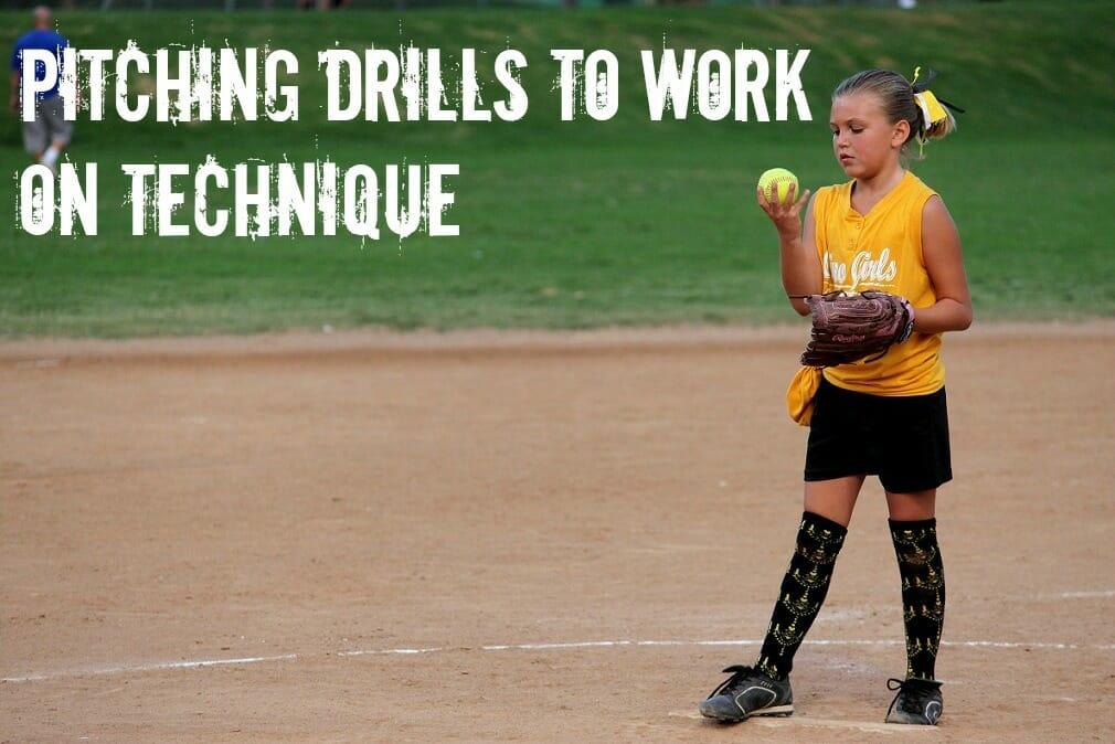 pitching softball drills