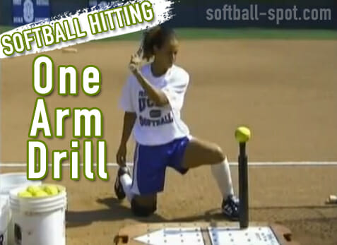 Softball Hitting - One Arm Drill
