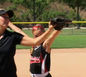 softball pitching 2 glove