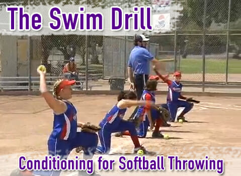 Softball Conditioning Drills - Swim Drill