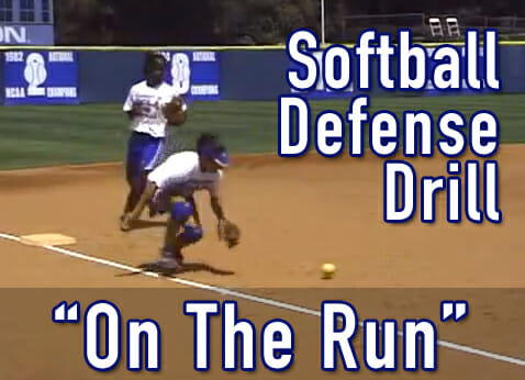 softball defense on the run
