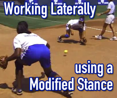 softball fielding laterally