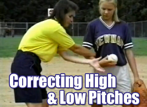 softball pitching correcting