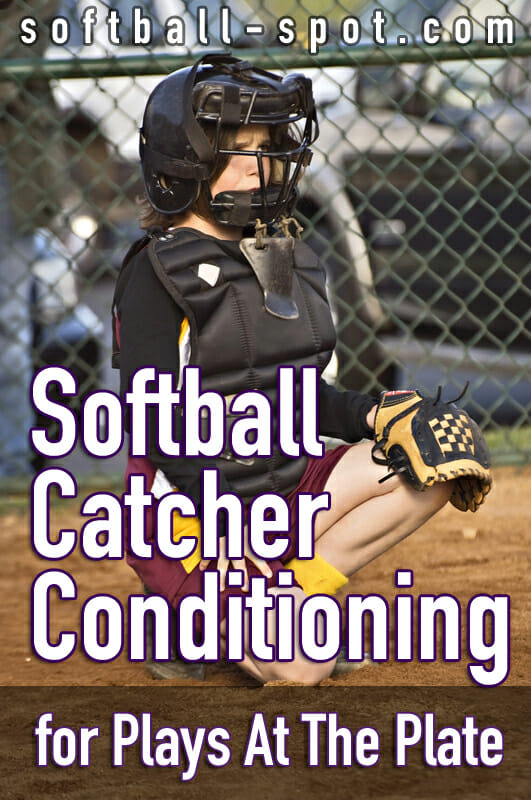 softball catcher training  plays at the plate