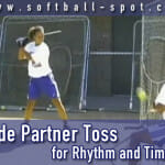 side partner toss hitting drill