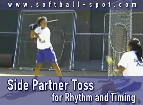 side partner toss hitting drill