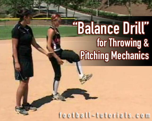 balance drill pitching mechanics drill