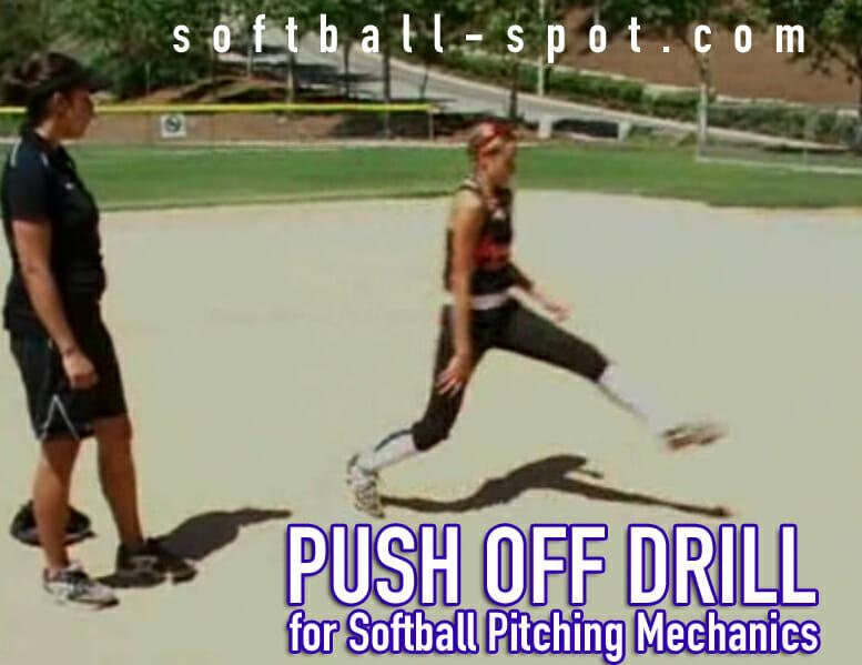 push off drill softball pitching mechanics