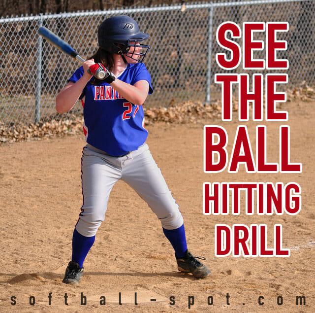 see the ball softball hitting drill