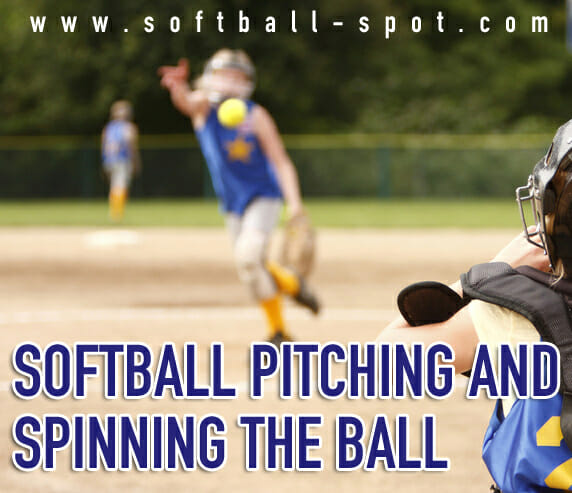 softball pitching spinning