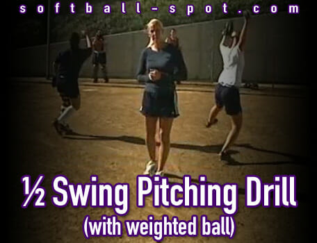 half swing pitching drill