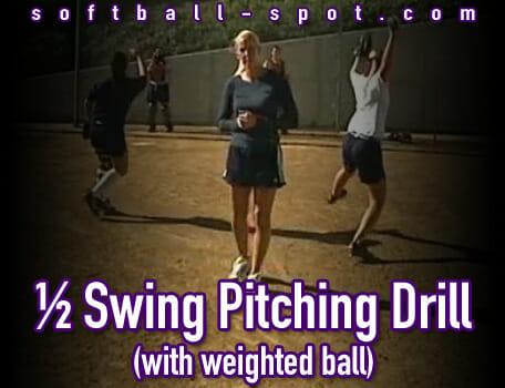 half swing pitching drill