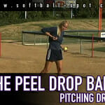 peel drop ball pitching drill