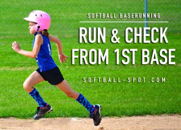baserunning run and check 1st