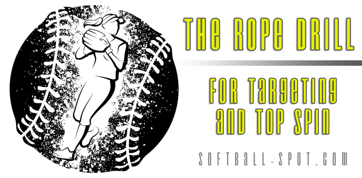 the rope drill softball pitching drill