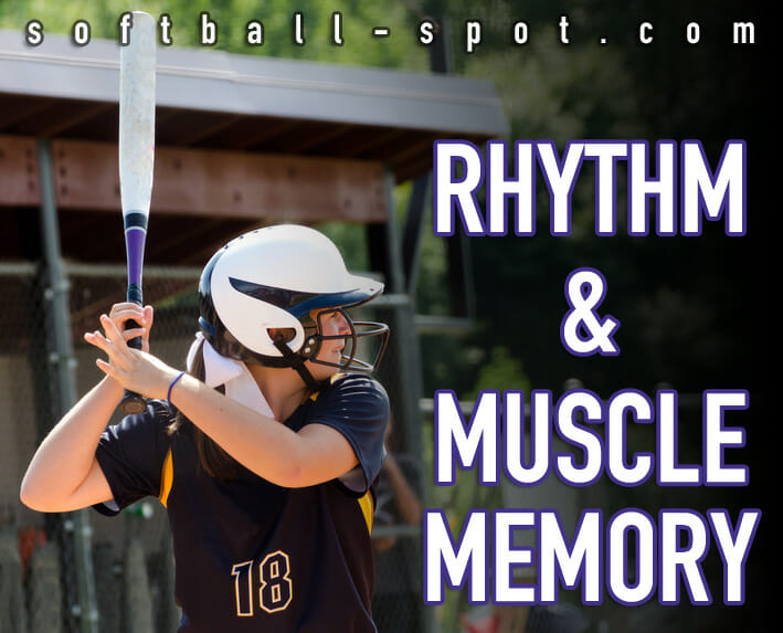 softball hitting rhythm muscle memory