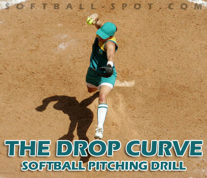 the drop curve softball pitching drill2