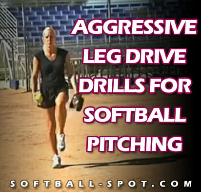 softball pitching leg drive drills