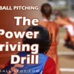 softball pitching power driving drill