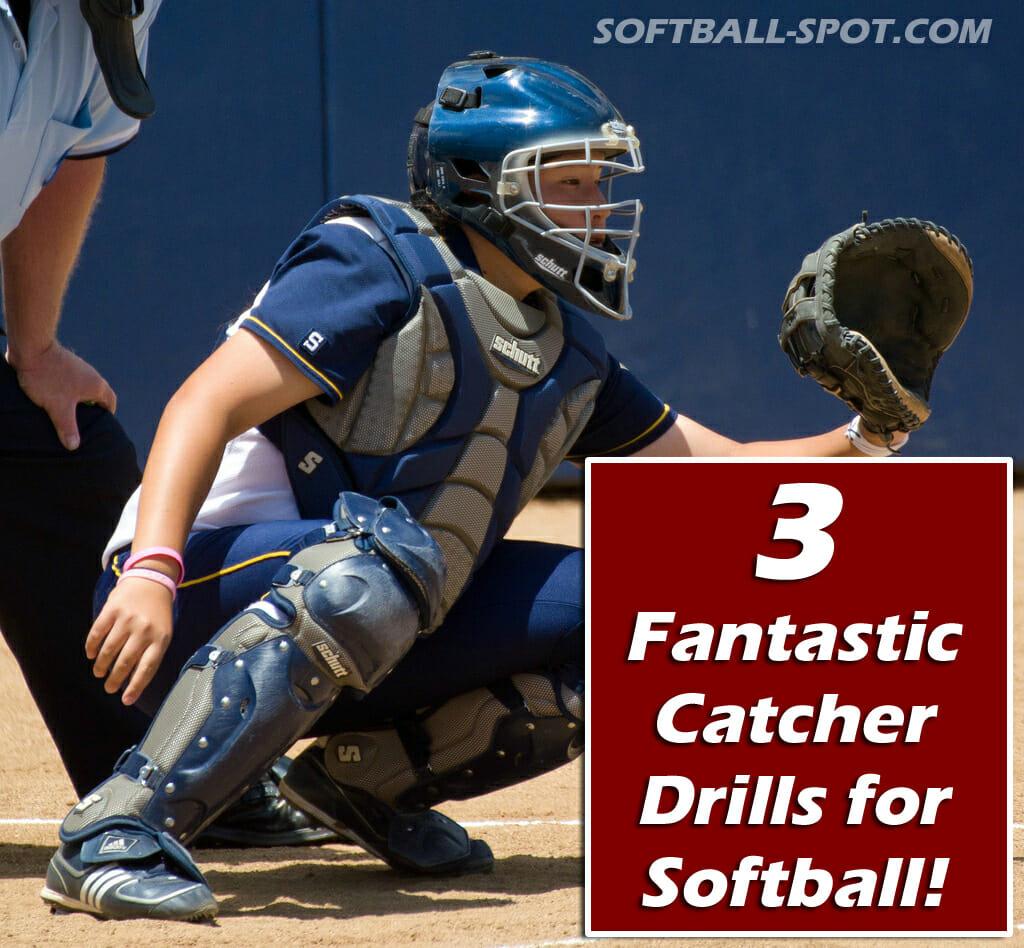 3 catcher drills for softball 2