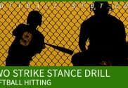 two strike stance hitting drill