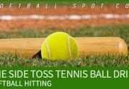 side toss tennis ball hitting drill