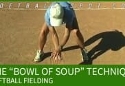softball fielding bowl of soup