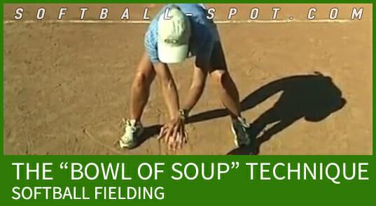 softball fielding bowl of soup