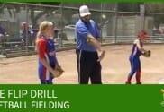 softball fielding the flip drill