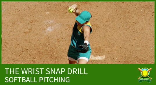 softball pitching wrist snap drill