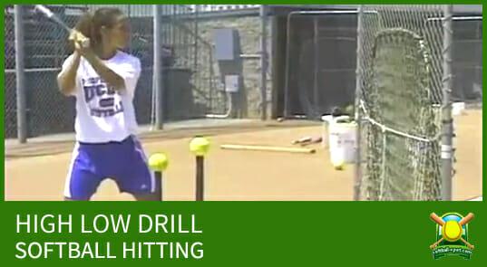 high low hitting drill