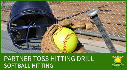 partner toss hitting drill