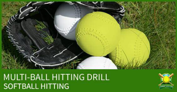 SOFTBALL HITTING DRILL MULTI BALL
