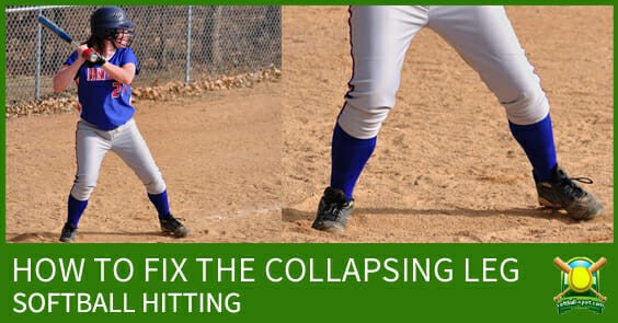 SOFTBALL HITTING COLLAPSING LEG