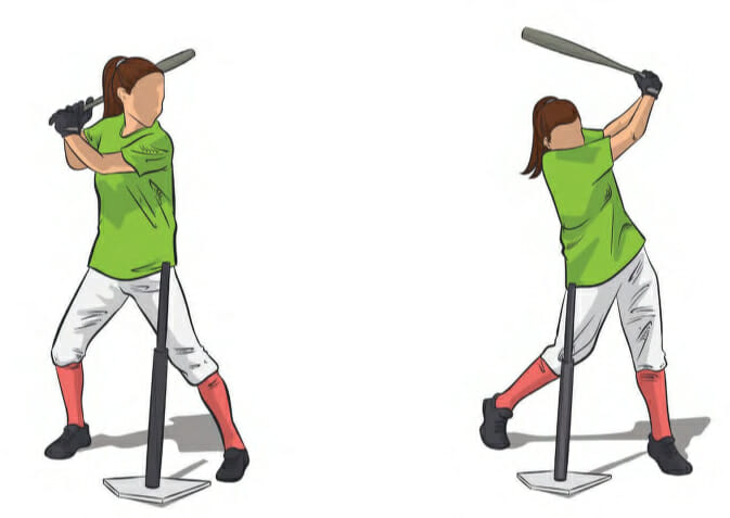 Swing Over The Tee Hitting Drill Softball Spot