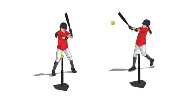 Flat Bat Softball Hitting Drill