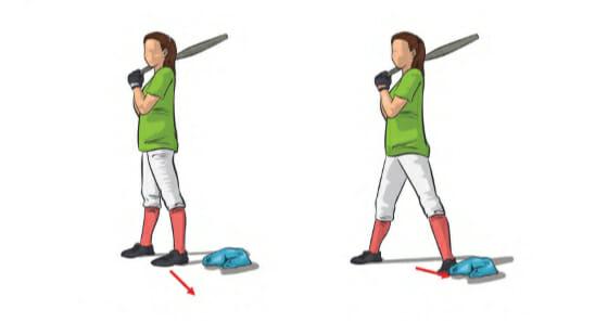 At Home Softball Drills - Step Drill